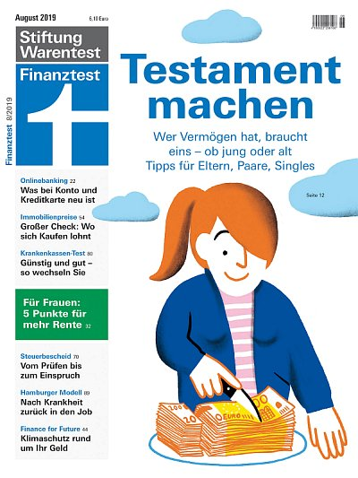 Cover Finanztest August 2019 (c) Stiftung Warentest