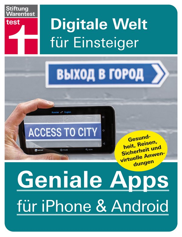 Geniale Apps für iPhone & Android - Buchcover (c) Stiftung Warentest